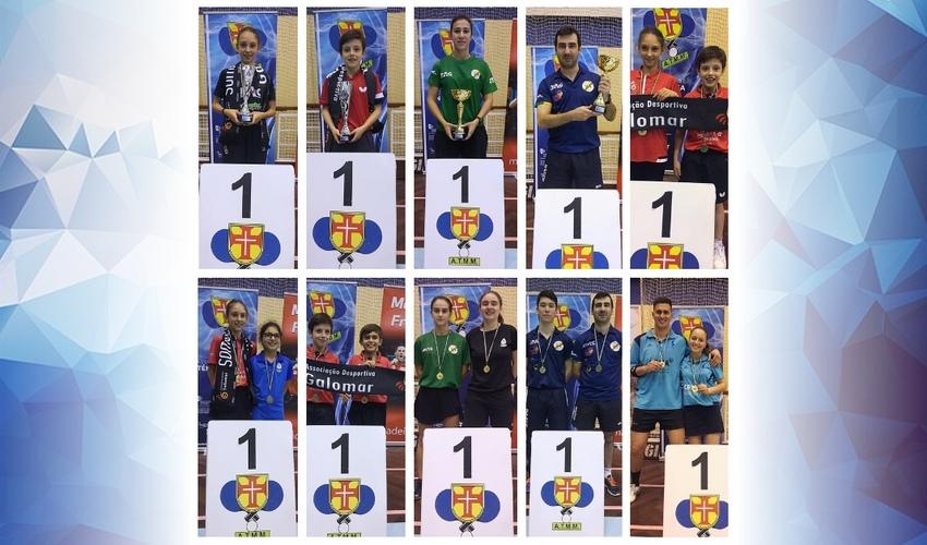 Resultados do Campeonato Regional de Singulares e Pares - Infantis e Seniores