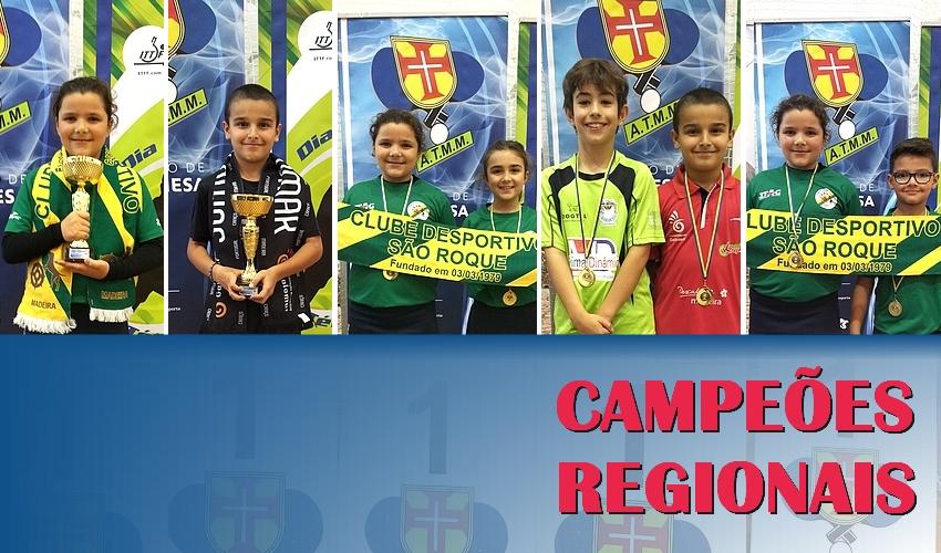 Resultados do Campeonato Regional de Singulares e Pares Iniciados