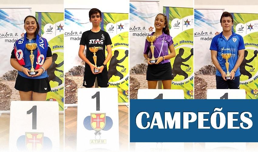 Encontrados os novos Campeões Regionais em Singulares Cadetes e Juniores